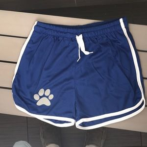 Other - Blue paw print sexy athletic shorts with pocket